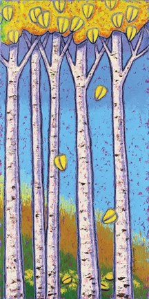 Framed Birches - Autumn Print