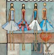 City Girls  Fine Art Print