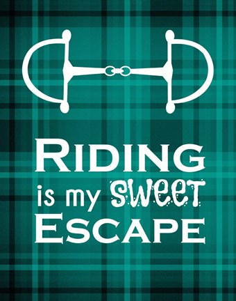 Framed Riding is My Sweet Escape - Green Print