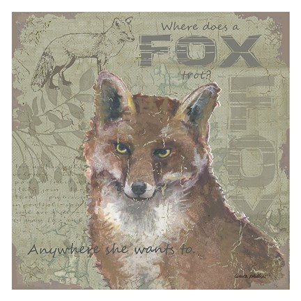 Framed Where Does a Fox Trot Print