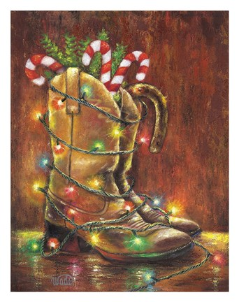 Framed Christmas Boots Print