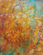 Bohemian Abstract Bright Crop  Fine Art Print