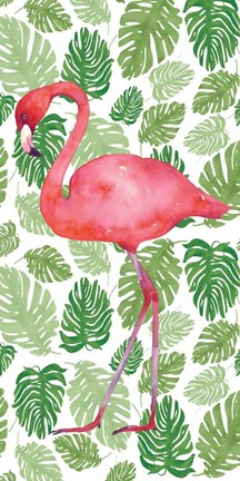 Framed Tropical Flamingo II Print