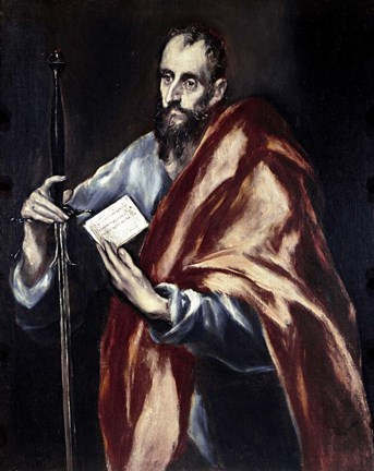 Framed Apostle Saint Paul, 1602-05 Print