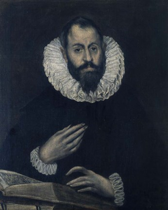 Framed Portrait of Alonso de Herrera 1595-1605 Print