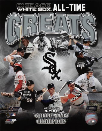 Framed Chicago White Sox All-Time Greats Print