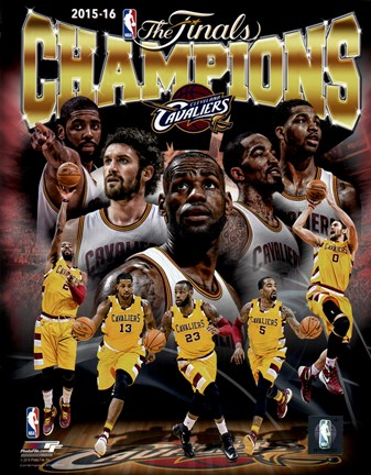 Framed Cleveland Cavaliers 2016 NBA Champions Composite Print