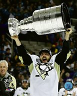 Kris Letang with the Stanley Cup Game 6 of the 2016 Stanley Cup Finals  Fine Art Print