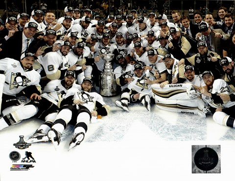 Framed Pittsburgh Penguins Celebration on Ice Game 6 of the 2016 Stanley Cup Finals Print
