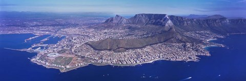 Framed Aerial View of Cape Town, South Africa Print