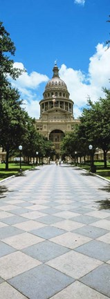 Framed State Capitol Building, Austin, Texas Print