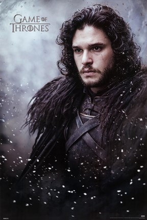 Framed Game of Thrones - Jon Snow Print