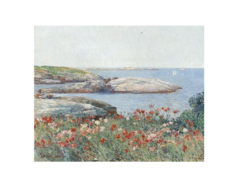 Framed Poppies, Isles of Shoals, 1891 Print