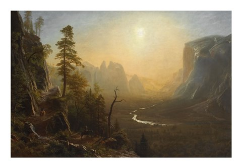 Framed Yosemite Valley, Glacier Point Trail, ca. 1873 Print