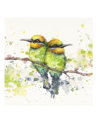 Framed Family (Rainbow Bee Eaters) Print