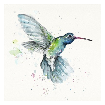 Framed Hummingbird Flurry Print