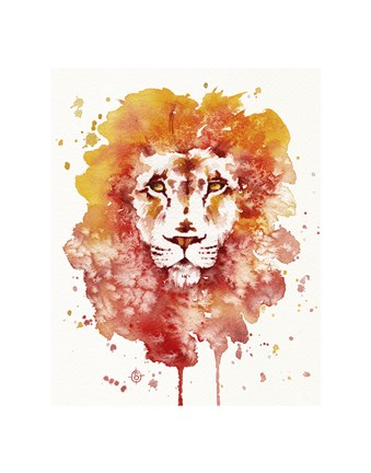 Framed Pride (Watercolor Lion) Print