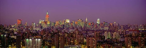 Framed Manhattan at Night Print