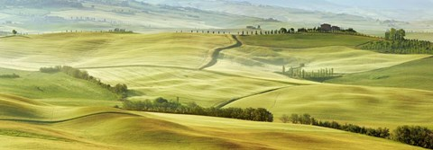 Framed Tuscany Landscape, Val d'Orcia, Italy Print