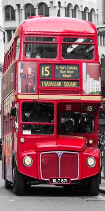 Framed Double-Decker Bus, London Print