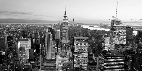 Framed Aerial View of Manhattan, NYC 1 Print