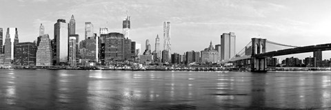 Framed Manhattan and Brooklyn Bridge, NYC 1 Print