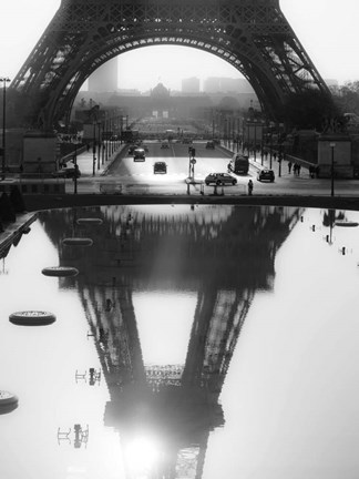 Framed Eiffel Tower Reflected, Paris Print