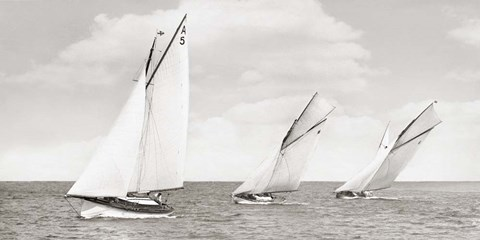 Framed Sloops Racing, 1926 Print