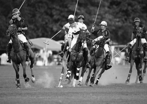 Framed Polo players, New York Print