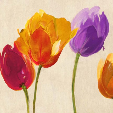 Framed Tulips & Colors (detail) Print