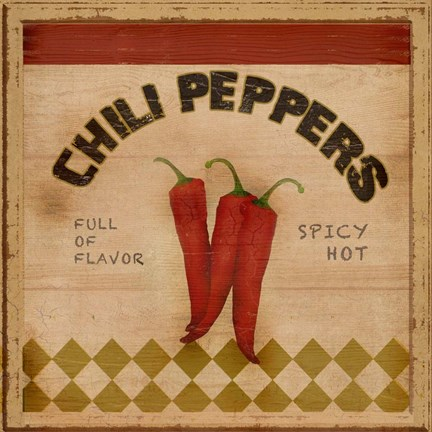 Framed Chili Peppers Print