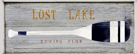 Framed Lost Lake Rowing Print