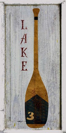 Framed Lake Oar Print
