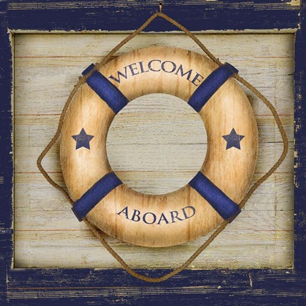Framed Welcome Aboard Print