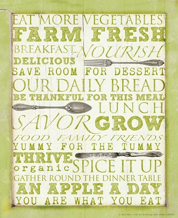 Framed Farm Fresh Typography Print