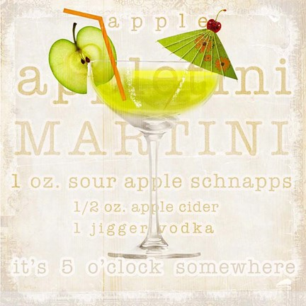 Framed Appletini Print