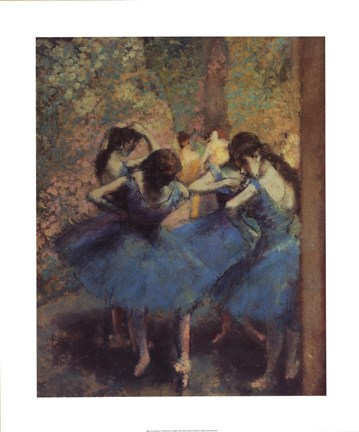 Framed Blue Dancers Print