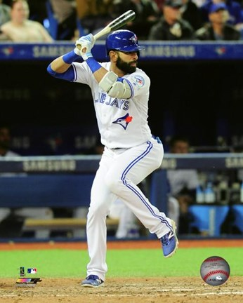Framed Jose Bautista 2016 Action Print
