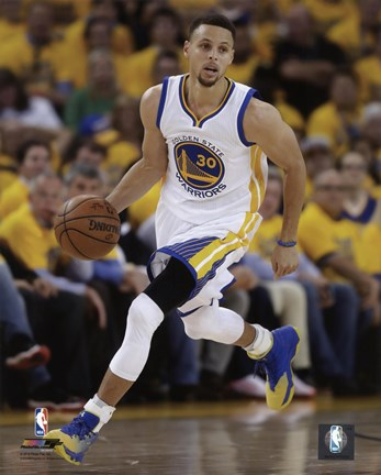 Stephen Curry 2016 Nba Playoff Action Fine Art Print By