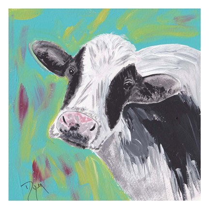 Framed Farm Life Cow Print
