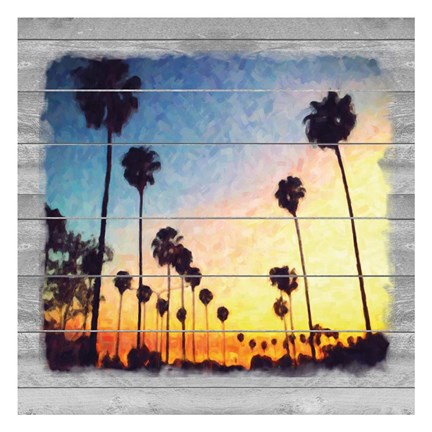 Framed Down Sunset Strip Print