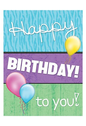 Framed Happy Birthday To You Print