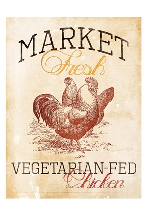 Framed Vegetarian Fed Chicken Print