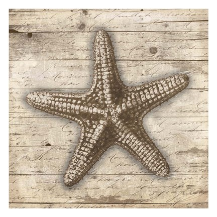 Framed Wooden Star Print