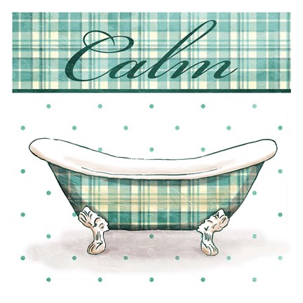 Framed Relaxed Plaid Bath Mate Print