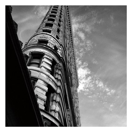 Framed Beneath Flatiron Building Print