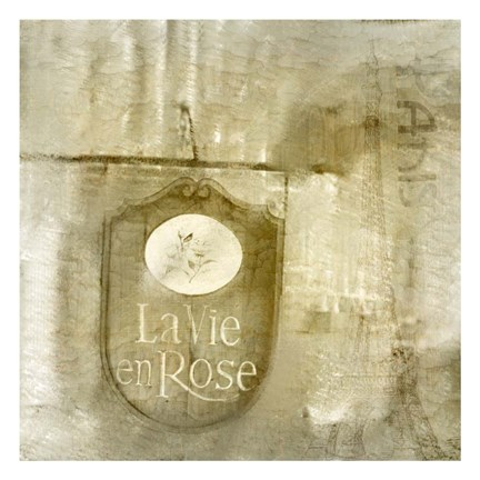 Framed LaVie en Rose Print