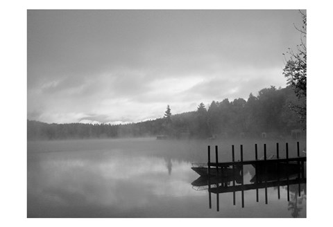Framed On The Dock BW Print