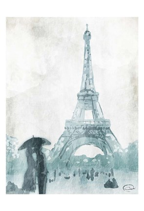 Framed Love in Paris Print