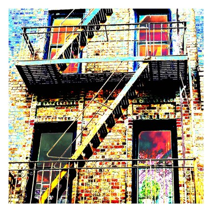 Framed Colorful Life Brooklyn Print